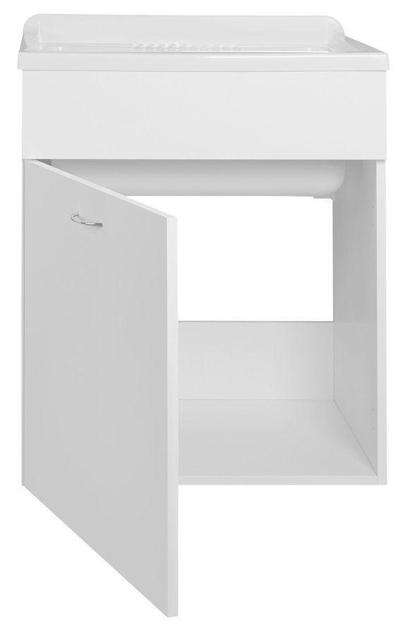 AQUALINE - Skrinka pod výlevku 59,5x70x49,4cm, biela (57035)