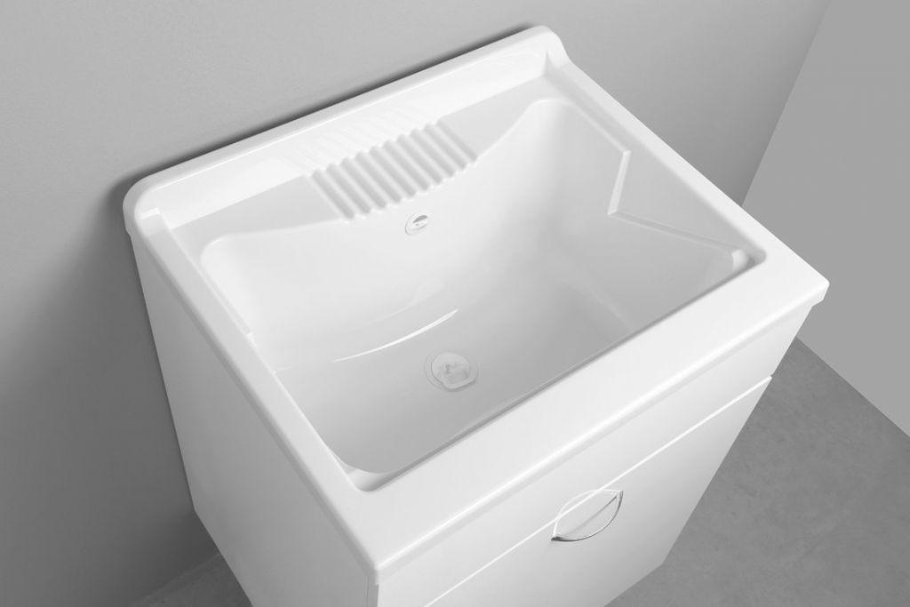 AQUALINE - Závesná výlevka 60x50cm, plast, biela (PI6050)