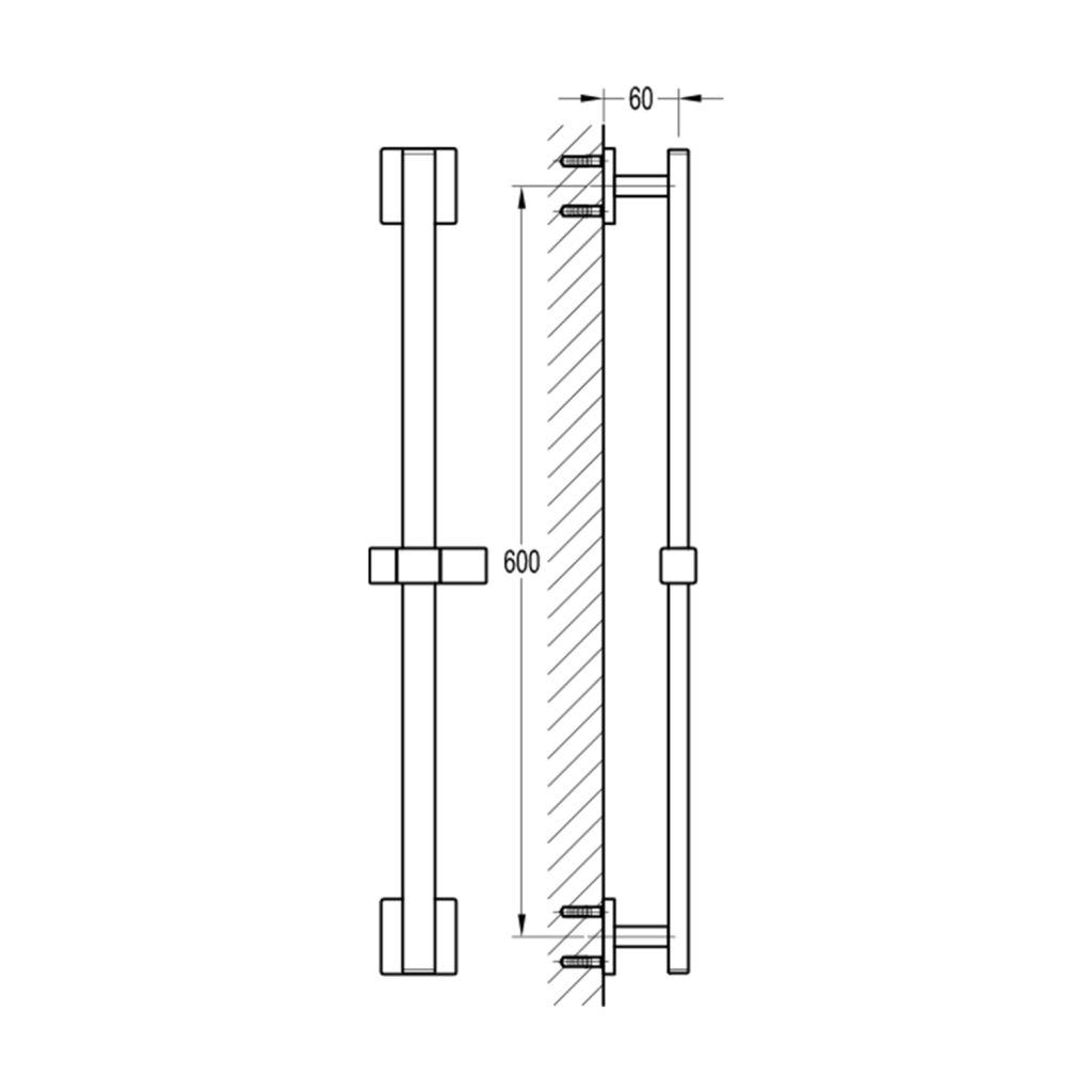 SAPHO - Posuvný držiak sprchy, 660mm, chróm (1202-28)