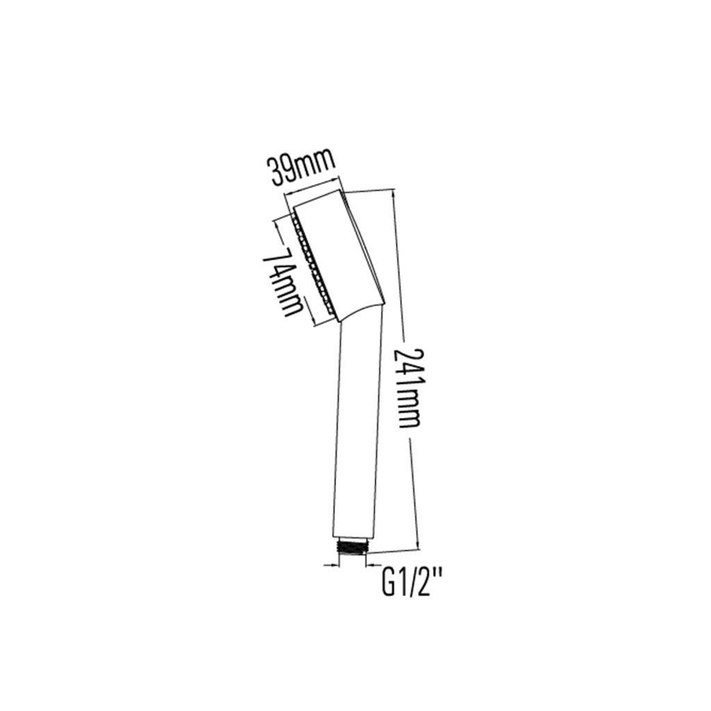 SAPHO - Ručná sprcha, priemer 74mm, ABS/chróm (1204-41)