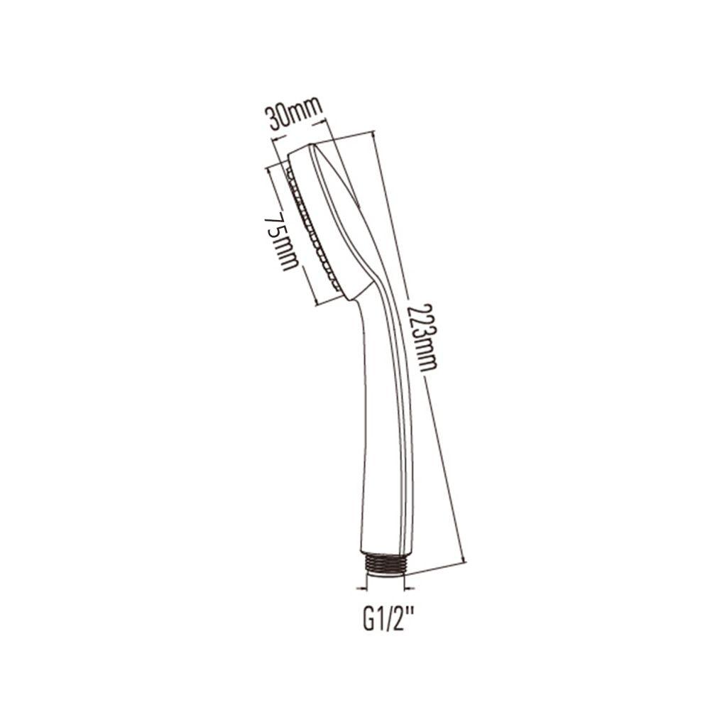 SAPHO - Ručná sprcha, priemer 75mm, ABS/chróm (1204-42)