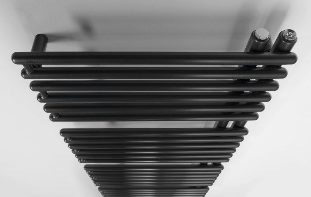 AQUALINE - TUBINI vykurovacie teleso 496x1126mm, antracit (DC305T)