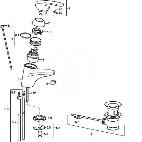 HANSA - Mix Páková umývadlová batéria, chróm (0109218300006)