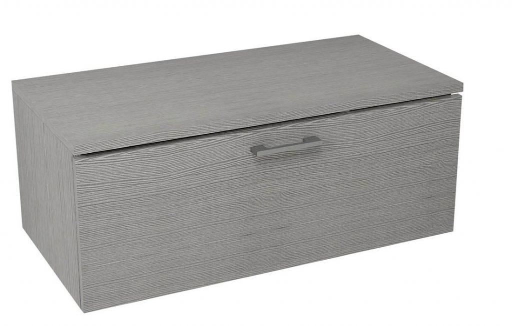 SAPHO - MAKALA skrinka s vrchnou doskou 89,5x35x45,2 cm, dub strieborný ML096