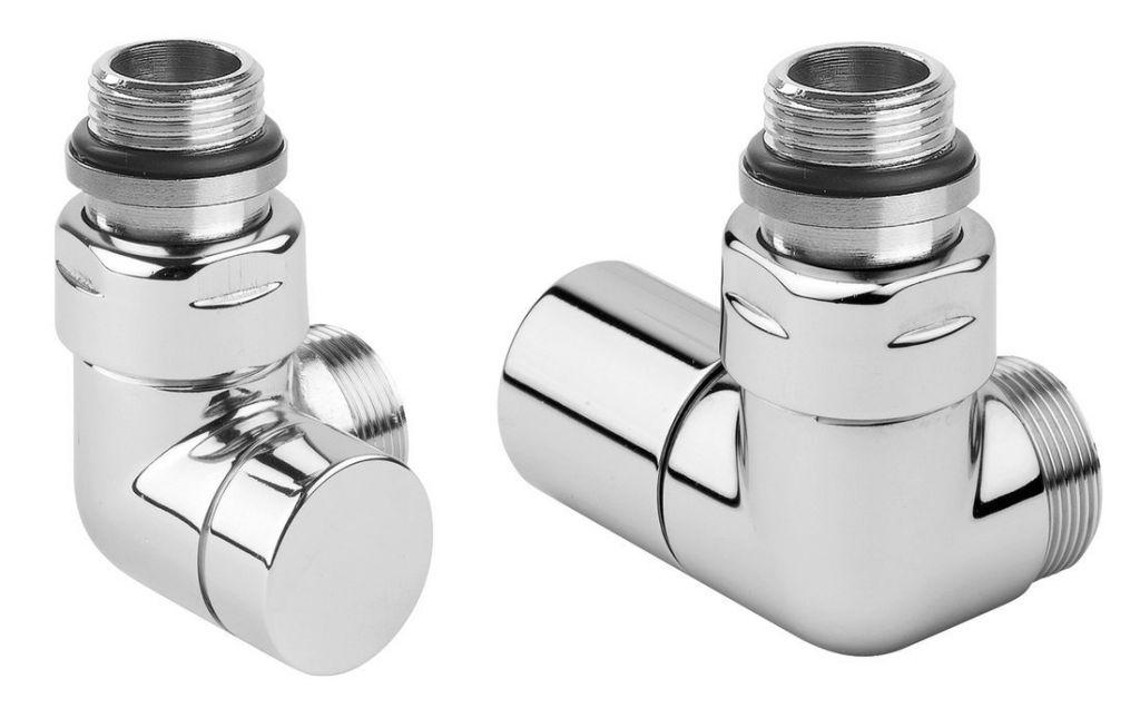 SAPHO - CORNER SIMPLY pripojovacia sada ventilov, pravé, chróm CP130