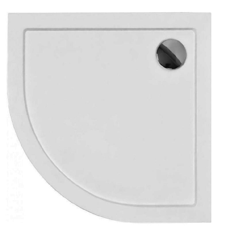 HOPA - Štvrťkruhová sprchová vanička ARON - Rozmer A - 90 cm, Rozmer B - 90 cm OLBVANACARO90