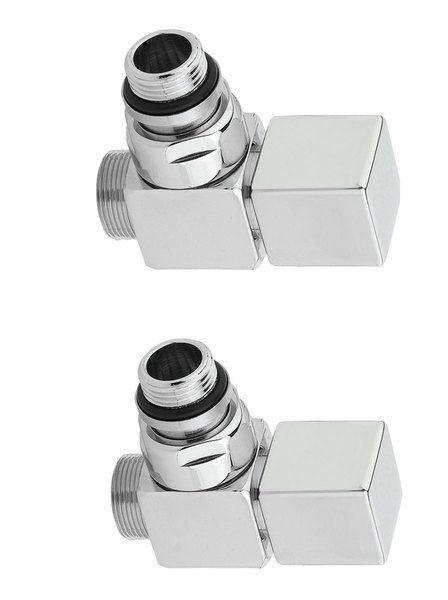 SAPHO - CUBE pripojovacia sada ventilov ručná rohová, chróm CP4010