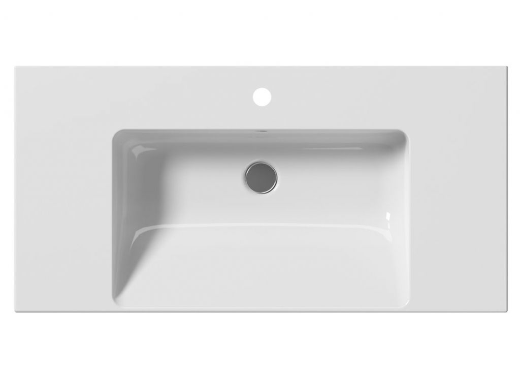 GSI - NORM keramické umývadlo 100x18x50 cm, biela ExtraGlaze (8633111)