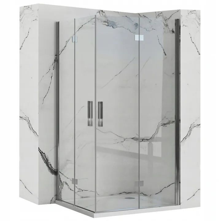 REA/S - Sprchovací kút Moliere dvere / dvere 80x100 MOLDD080100