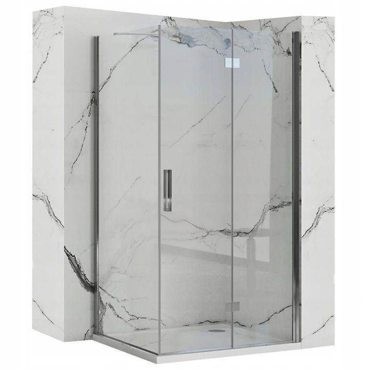 REA/S - Sprchovací kút Moliere dvere / stena 80x80 MOLDS080080