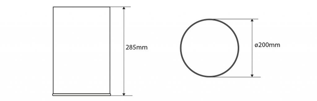 SAPHO - Odpadkový koš bez veka 9l, leštená nerez (XP015)