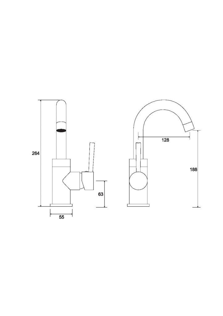 HOPA - Stojanková umývadlová batéria ILLUSION II - Farba radiátora - Čierna matná (BABUIIICZ)