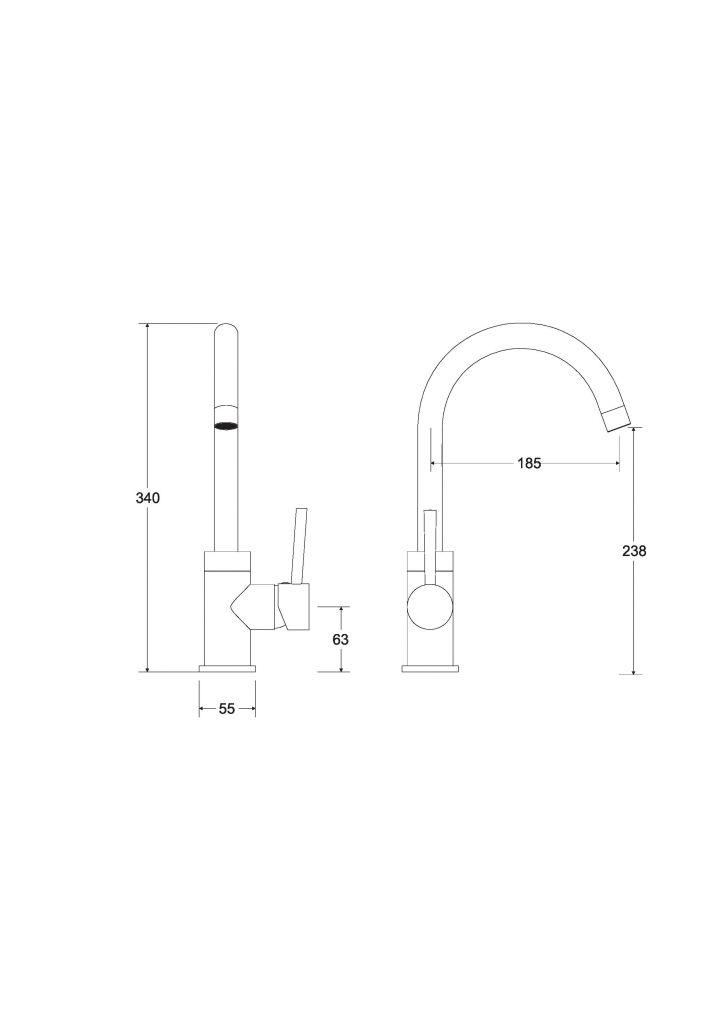 HOPA - Vysoká stojanová umývadlová batéria ILLUSION I Zlatá (BABUIIZL)