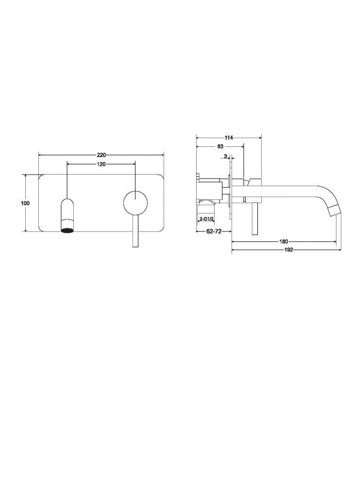 HOPA - Podomietková umývadlová batéria ILLUSION - Farebnica - Chróm (BABUISCH)