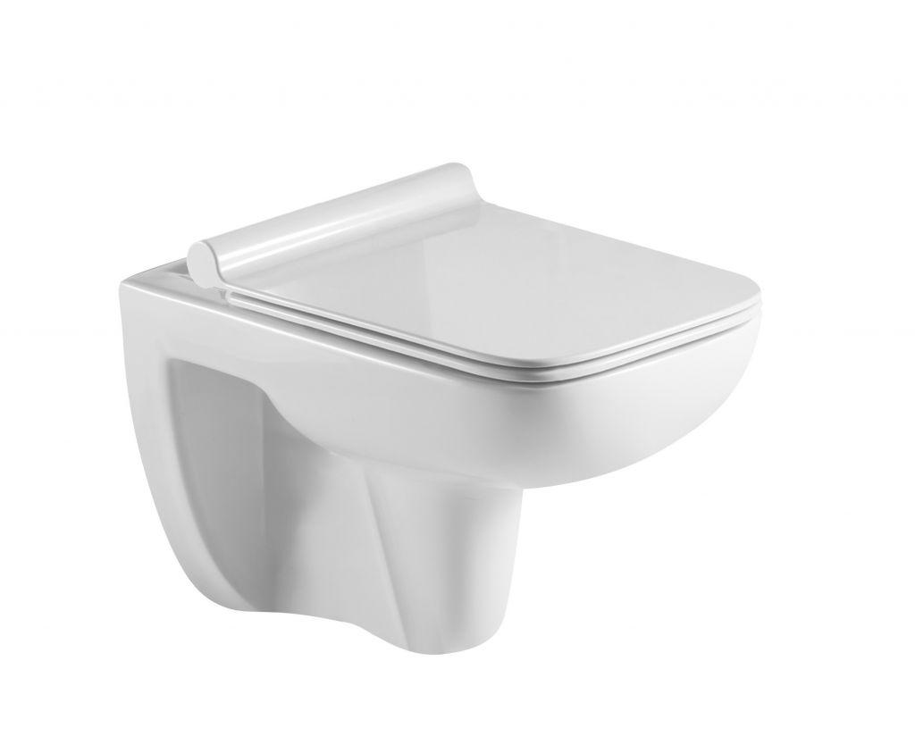 HOPA - Závesné WC ADDATO RIMLESS sa SLIM sedadlom Soft-close OLKLT2005E