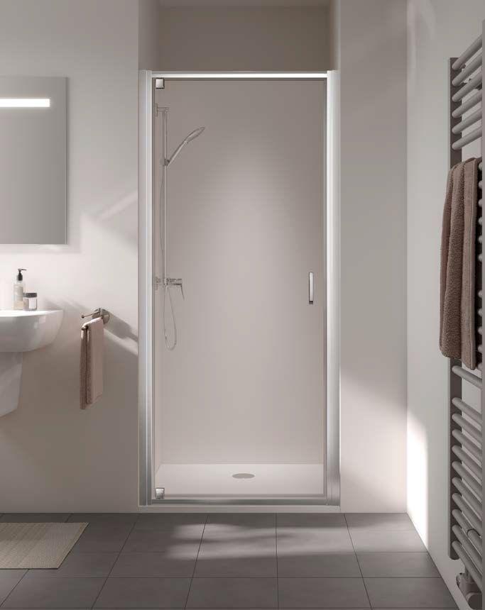 Kermi STINA sprchové dvere kývne 1WP 1000 x 1950 mm sklo číre Clean ST1WP10019VPK ST1WP10019VPK