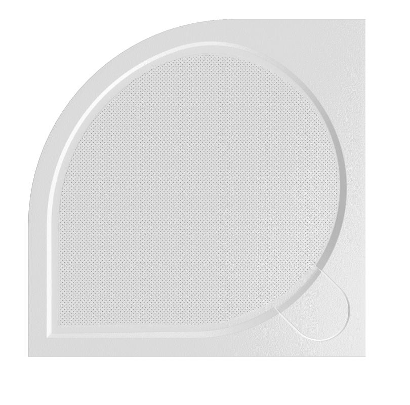 HOPA - Štvrťkruhová mramorová sprchová vanička Laka R550 - Rozmer A - 80 cm, Rozmer B - 80 cm VANKCCTVRT80