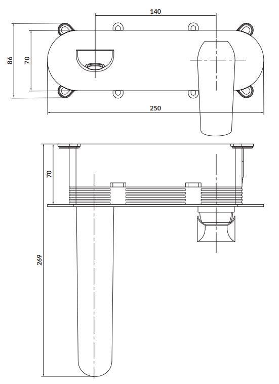 CERSANIT - Podomietková páková umývadlová batéria CITY, vrátane montážneho telesa, chróm (S951-361)