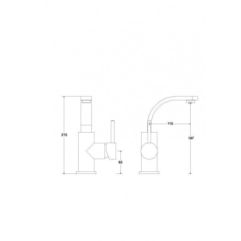 HOPA - Stojanková umývadlová batéria Decca II - Radiátory - Farebné prevedenie HL - Čierna matná (BABUDIICZ)