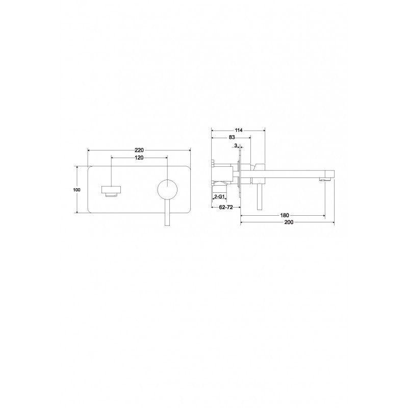 HOPA - Podomietková umývadlová batéria Decca - Radiátory - Farebné prevedenie HL - Čierna matná (BABUDSCZ)