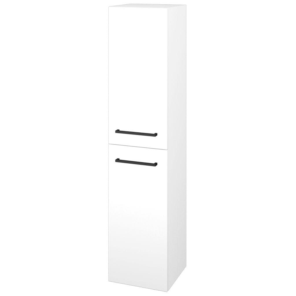 Dreja - Skriňa vysoká DOS SVD2 35 - N01 Bílá lesk / Úchytka T06 / L01 Bílá vysoký lesk / Levé 22351H