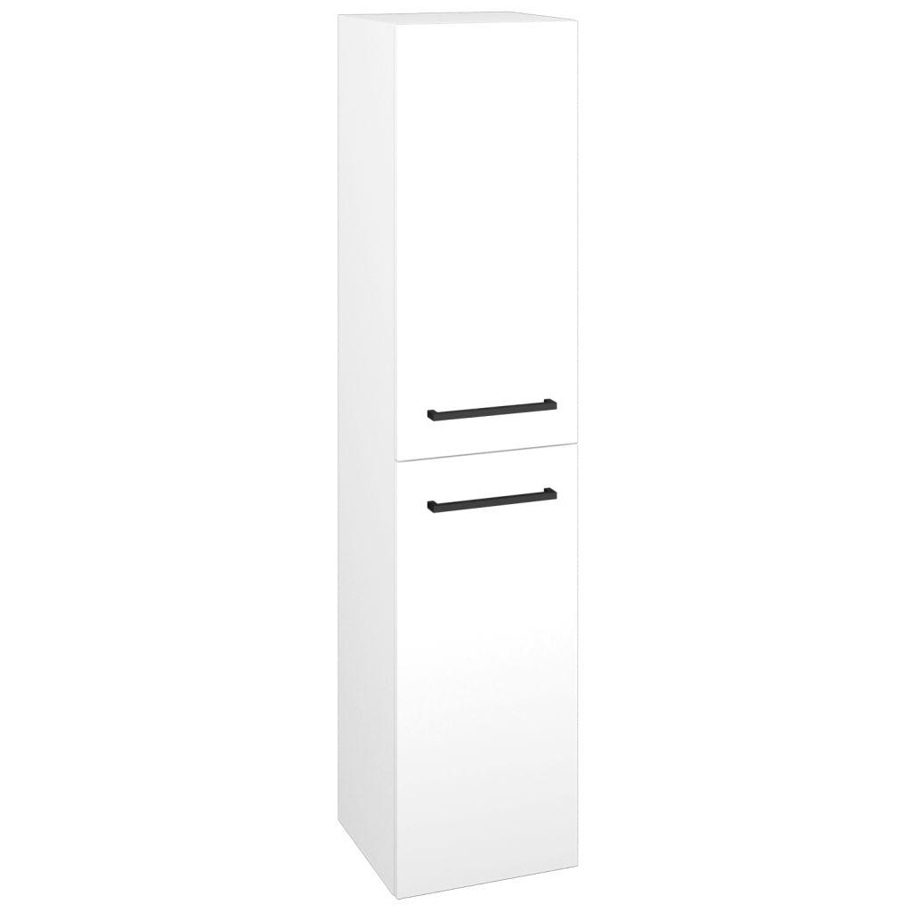 Dreja - Skriňa vysoká DOS SVD2 35 - N01 Bílá lesk / Úchytka T06 / L01 Bílá vysoký lesk / Pravé 22351HP