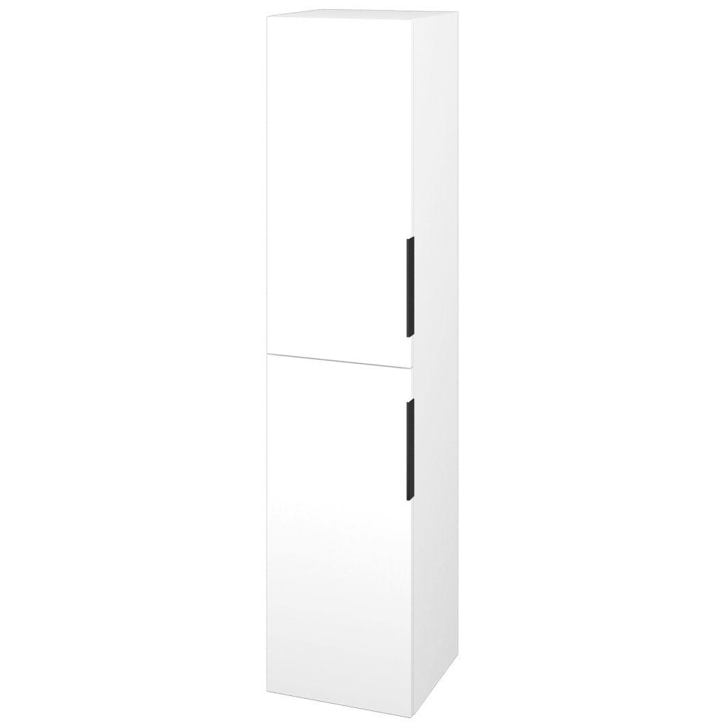 Dreja - Skriňa vysoká DOS SVD2 35 - N01 Bílá lesk / Úchytka T07 / L01 Bílá vysoký lesk / Levé 22351I