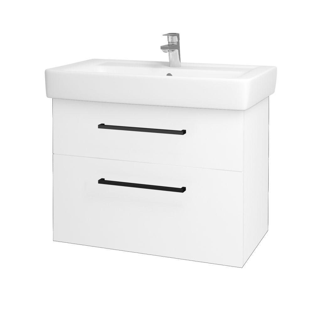 Dreja - Kúpeľňová skriňa Q MAX SZZ2 80 - N01 Bílá lesk / Úchytka T06 / L01 Bílá vysoký lesk 60193H