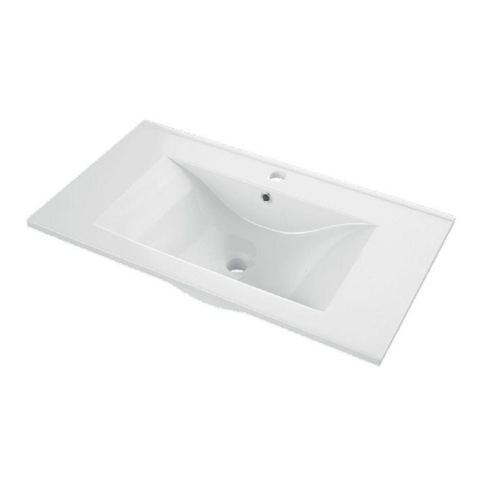 A-Interiéry - Nábytkové keramické umývadlo CSX 101-46 (101,5x46x18 cm) csx_10146