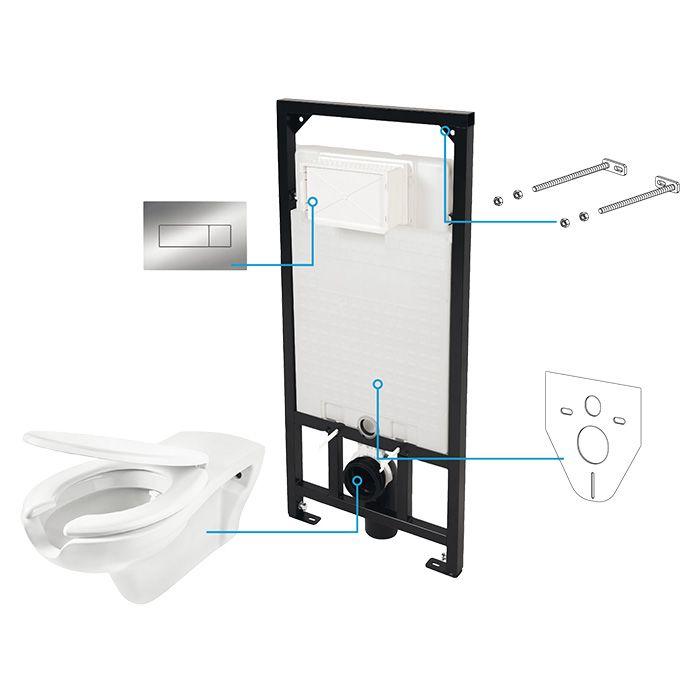 A-Interiéry - Vancouver S6W Podomietkový WC set pre zdravotne postihnutých vancouver_s6w