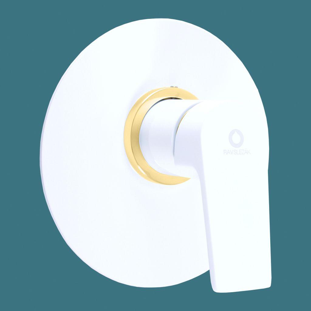 SLEZAK-RAV - Batéria sprchová vstavaná COLORADO biela / zlato, Farba: biela / zlato (CO183LBZ)