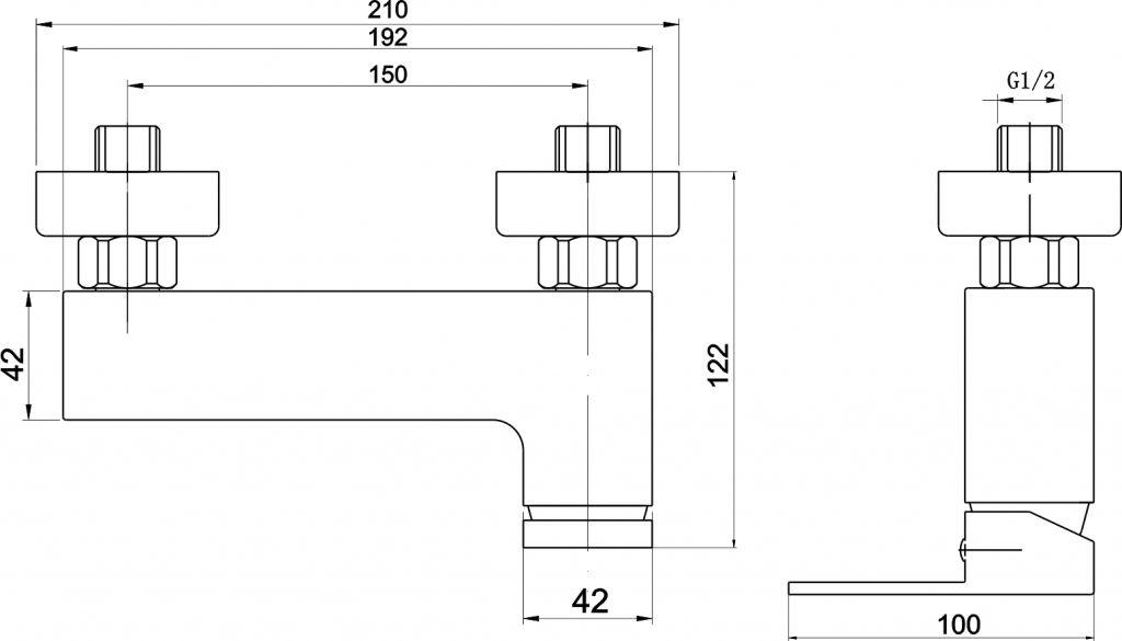 NOVASERVIS - Sprchová batéria bez príslušenstva 150 mm Nobless EDGE chróm (36061/1,0)