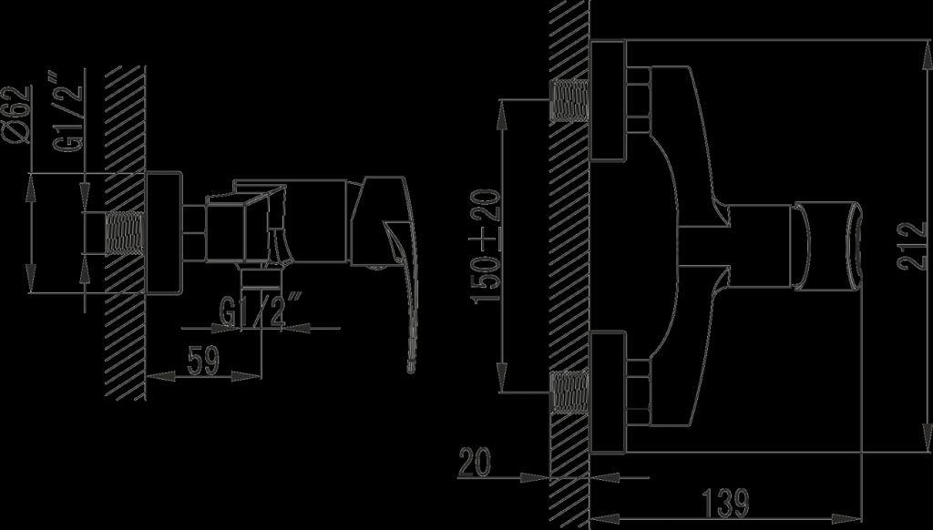 NOVASERVIS - Sprchová batéria Brado chróm (80061/1,0)
