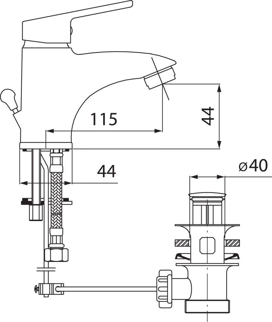 NOVASERVIS - Umývadlová batéria bez výpusti SMILE chróm (71001/1,0)