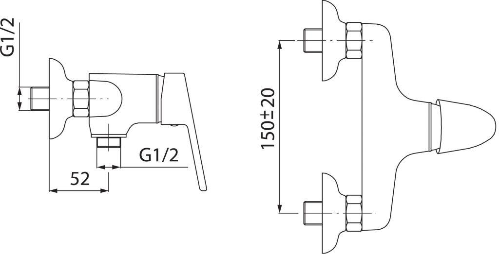 NOVASERVIS - Sprchová batéria 150 mm SMILE chróm (71060,0)