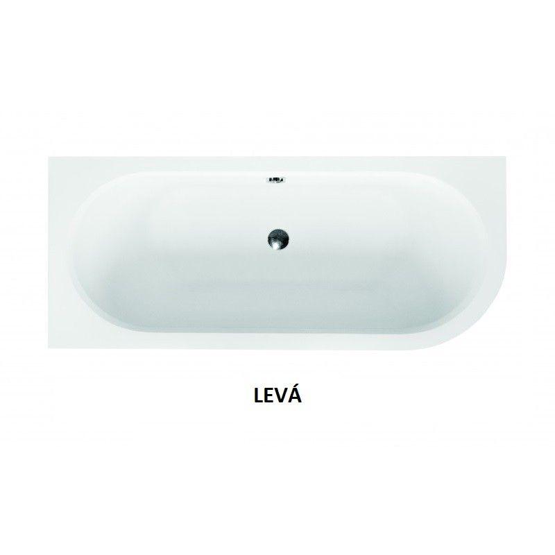 HOPA - Asymetrická vaňa AVITA SLIM - Nožičky k vani - Bez nožičiek, Rozmer vane - 170 × 75 cm, Spôsob prevedenia - Ľavé (VANAVIT170SLIML)