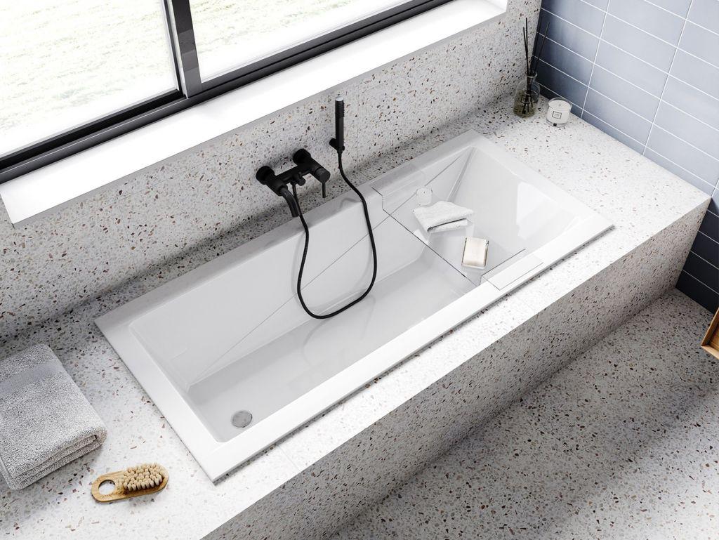 HOPA - Obdĺžniková vaňa MODERN SLIM - Nožičky k vani - Bez nožičiek, Rozmer vane - 160 × 70 cm (VANMOD16SLIM)