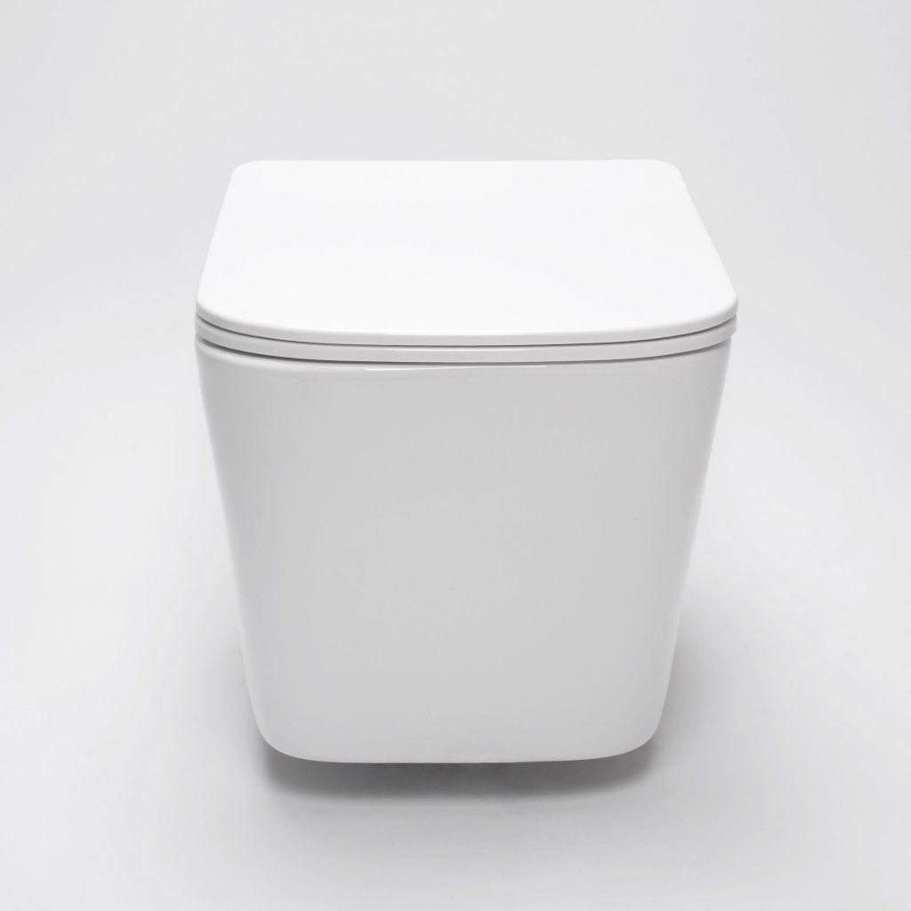 GEBERIT KOMBIFIXBasic vr. bieleho  tlačidla DELTA 50 + WC REA Raul Rimless + SEDADLO (110.100.00.1 50BI RA1)