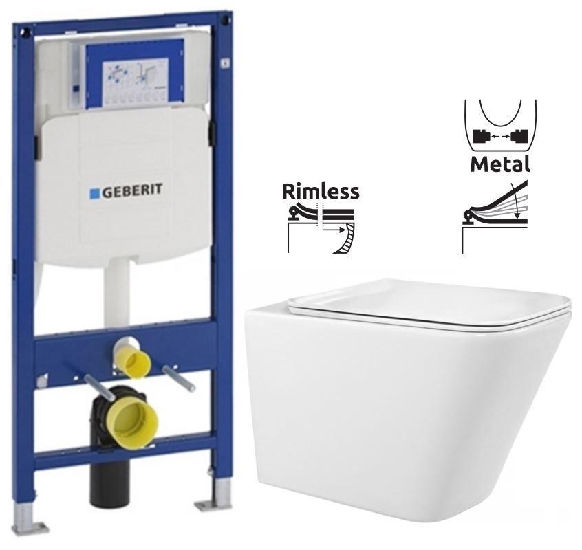 GEBERIT Duofix bez ovládacej dosky + WC REA Raul Rimless + SEDADLO 111.300.00.5 RA1