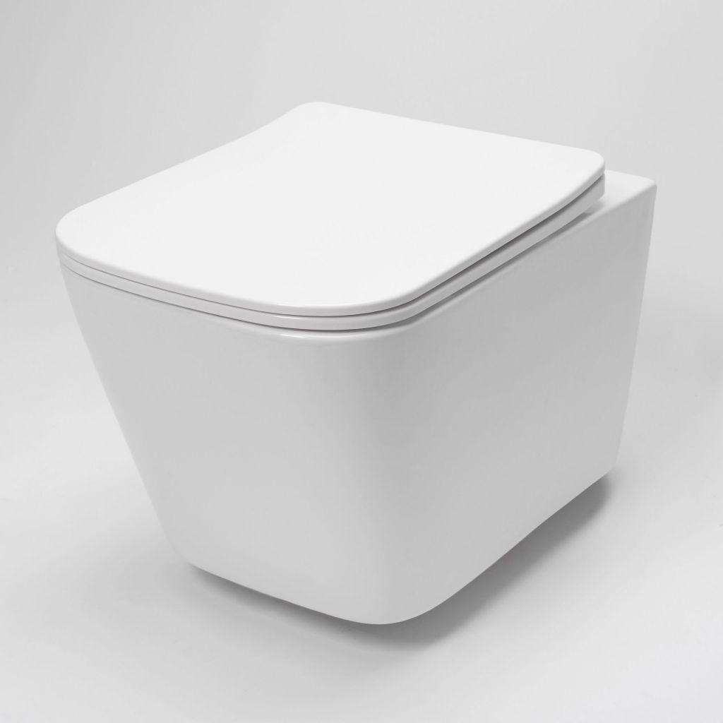 ALCAPLAST  Sádromodul - predstenový inštalačný systém s bielym tlačidlom M1710 + WC REA Raul Rimless + SEDADLO (AM101/1120 M1710 RA1)
