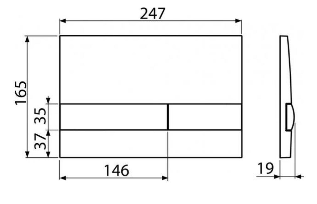 ALCAPLAST  Jádromodul - predstenový inštalačný systém s bielym tlačidlom M1710 + WC REA Raul Rimless + SEDADLO (AM102/1120 M1710 RA1)