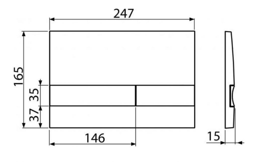 ALCAPLAST Jádromodul - predstenový inštalačný systém s chrómovým tlačidlom M1721 + WC REA Raul Rimless + SEDADLO (AM102/1120 M1721 RA1)