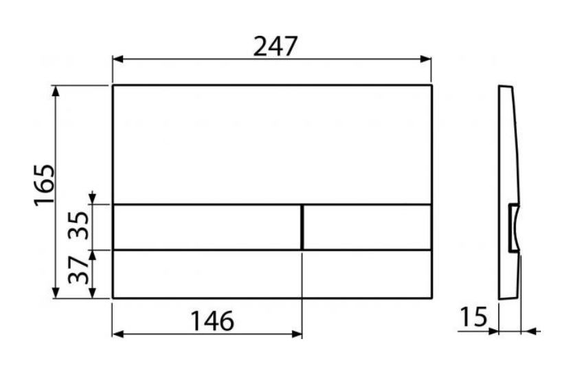 ALCAPLAST  Renovmodul - predstenový inštalačný systém s chrómovým tlačidlom M1721 + WC REA Raul Rimless + SEDADLO (AM115/1000 M1721 RA1)