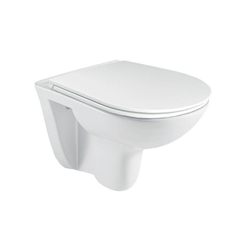 MEREO - WC závesné, RIMLESS, 530x355x360, keramické, vr. sedátka CSS113S VSD81S