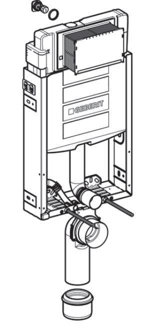 GEBERIT KOMBIFIX ECO, nádržka UP 320 bez ovládacej dosky + WC REA CARLO MINI RIMLESS ČIERNY MAT + SEDADLO (110.302.00.5 MM1)