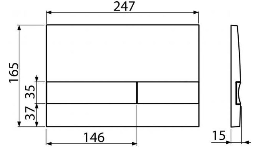 ALCAPLAST Jádromodul - predstenový inštalačný systém s bielym / chróm tlačidlom M1720-1 + WC REA CARLO MINI RIMLESS ČIERNY MAT + SEDADLO (AM102/1120 M1720-1 MM1)