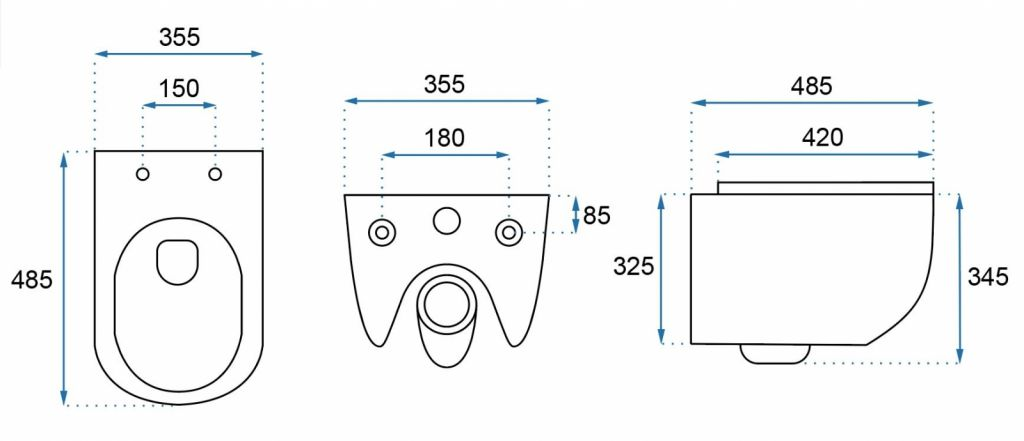 ALCAPLAST  Renovmodul - predstenový inštalačný systém s chrómovým tlačidlom M1721 + WC REA CARLO MINI RIMLESS ČIERNY MAT + SEDADLO (AM115/1000 M1721 MM1)