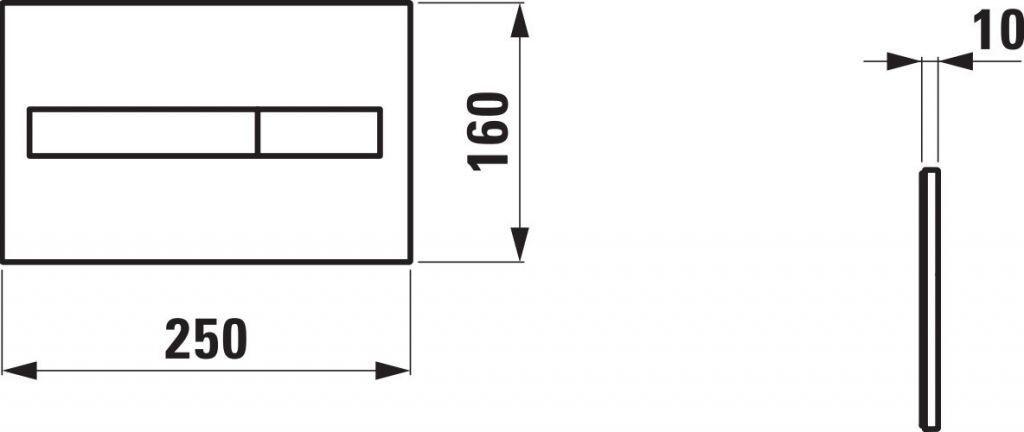 LAUFEN Podomít. systém LIS TW1 SET s chrómovým tlačidlom + WC REA CARLO MINI RIMLESS ČIERNY MAT + SEDADLO (H8946630000001CR MM1)