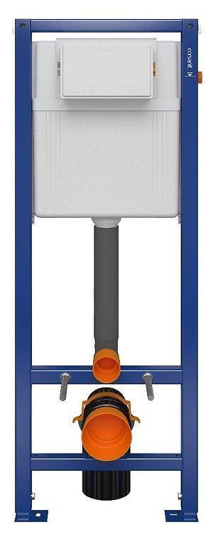 CERSANIT nádržka AQUA 02 bez tlačidla + WC REA CARLO MINI RIMLESS ČIERNY MAT + SEDADLO (S97-063 MM1)