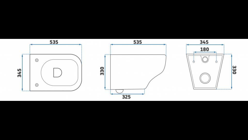 GEBERIT KOMBIFIXBasic vr. matného tlačidla DELTA 21 + WC REA Ivo Rimless + SEDADLO (110.100.00.1 21MA IV1)